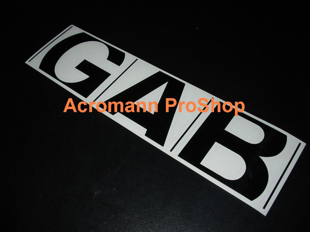 GAB 6inch Decal x 2 pcs